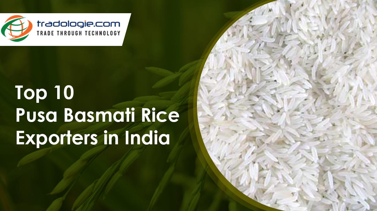Top 10 Pusa Basmati Rice Exporters in India